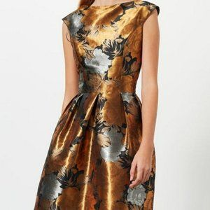 Miss Selfridge Floral Jacquard Prom Dress